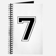 Varsity Font Number 7 Black Journal