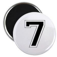 Varsity Font Number 7 Black Magnet