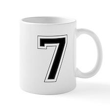 Varsity Font Number 7 Black Mug
