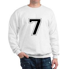 Varsity Font Number 7 Black Sweatshirt