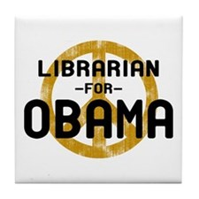 Librarian for Obama Tile Coaster