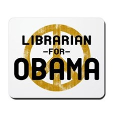 Librarian for Obama Mousepad