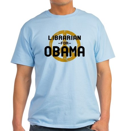 Librarian for Obama Light T-Shirt