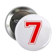"Varsity Font Number 7 Red 2.25"" Button"