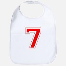 Varsity Font Number 7 Red Bib