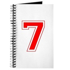 Varsity Font Number 7 Red Journal
