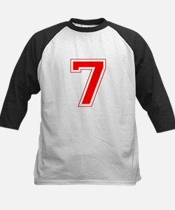 Varsity Font Number 7 Red Tee