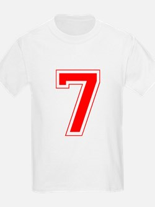 Varsity Font Number 7 Red T-Shirt