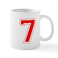 Varsity Font Number 7 Red Mug