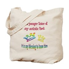 Sister autism awareness Tote Bag