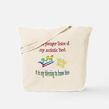 Sister autism awareness Tote Bag