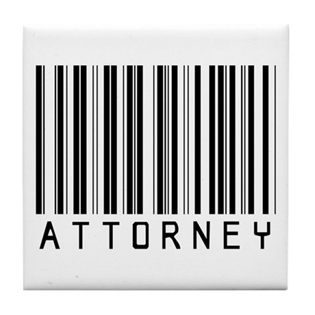 Attorney Barcode Tile Coaster