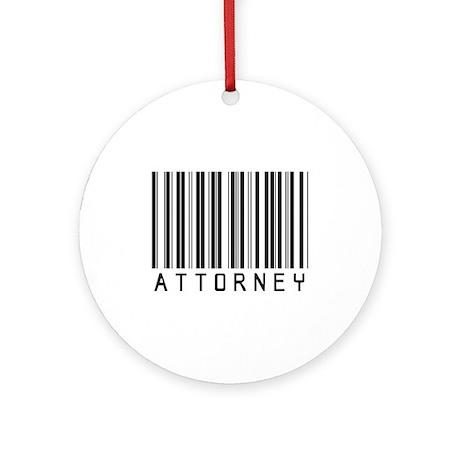 Attorney Barcode Ornament (Round)