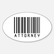Attorney Barcode Oval Decal