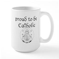 """""""Proud to be Catholic (byzantine) Coffee Mug"""