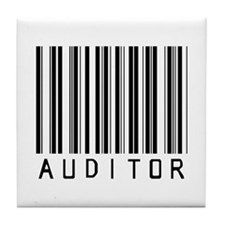 Auditor Barcode Tile Coaster