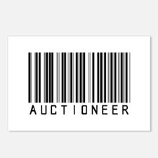 Auctioneer Barcode Postcards (Package of 8)