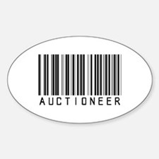 Auctioneer Barcode Oval Decal