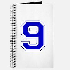 Varsity Font Number 9 Blue Journal