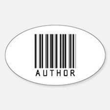 Author Barcode Oval Decal