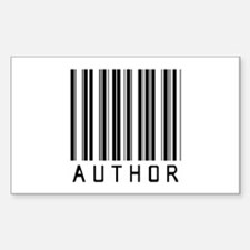 Author Barcode Rectangle Decal