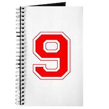 Varsity Font Number 9 Red Journal