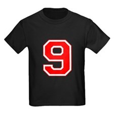 Varsity Font Number 9 Red T