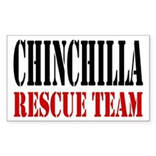Chinchilla Rescue no fur Rectangle Decal