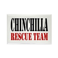 Chinchilla Rescue no fur Rectangle Magnet