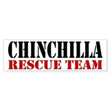Chinchilla Rescue no fur Bumper Bumper Sticker