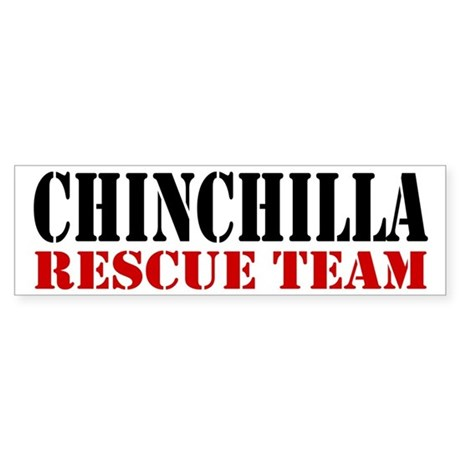 Chinchilla Rescue no fur Bumper Sticker