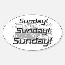 Sunday Niagara Oval Decal