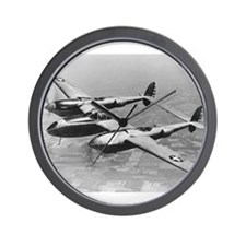 P-38 Lightning Wall Clock