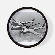 P-38 Lightning Wall Clock
