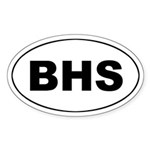 The Bahamas (BHS) Oval Sticker