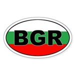 Bulgarian Flag (BGR) Oval Sticker