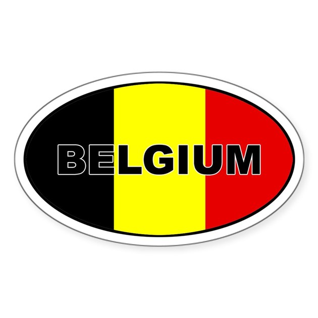 Belgian flag oval decal by castahex for Belgium flag coloring page