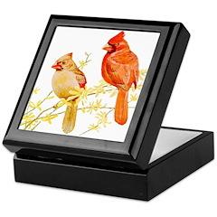 Red Cardinal Bird Keepsake Box
