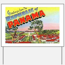 Panama Greetings Yard Sign
