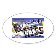 Niagara Falls Canada Oval Decal