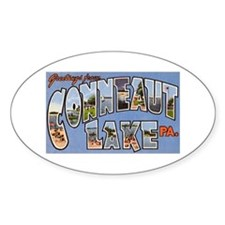 Conneaut Lake Pennsylvania Oval Decal