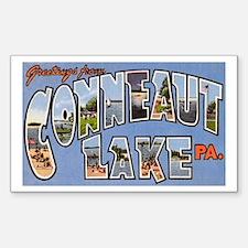Conneaut Lake Pennsylvania Rectangle Decal