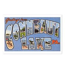Conneaut Lake Pennsylvania Postcards (Package of 8