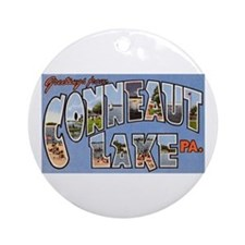 Conneaut Lake Pennsylvania Ornament (Round)