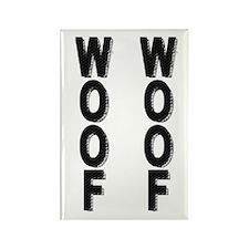 WOOF WOOF/VERTICAL Rectangle Magnet