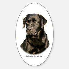 Labrador Retriever 9Y245D-018 Sticker (Oval)