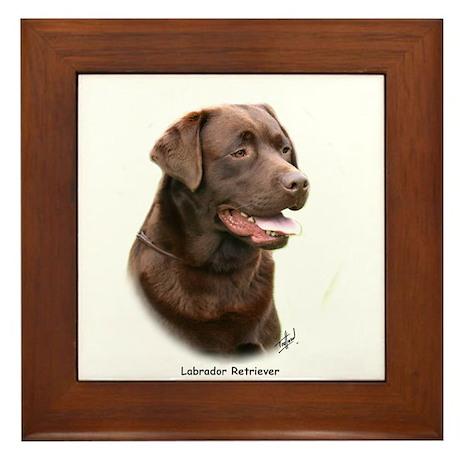 Labrador Retriever 9Y243D-004a Framed Tile
