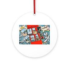 Gulf Coast Greetings Ornament (Round)