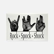 Rock Spock & Shock Rectangle Magnet
