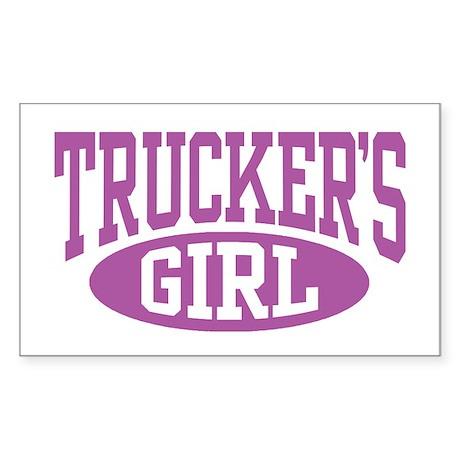 Trucker's Girl Rectangle Sticker